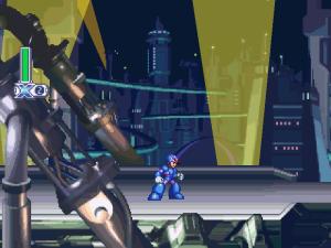 Se tudo der certo você começa o game com um Mega Man com detalhes roxos na roupa